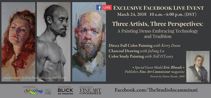 Facebook Live event Three Artists, Three Perspectives